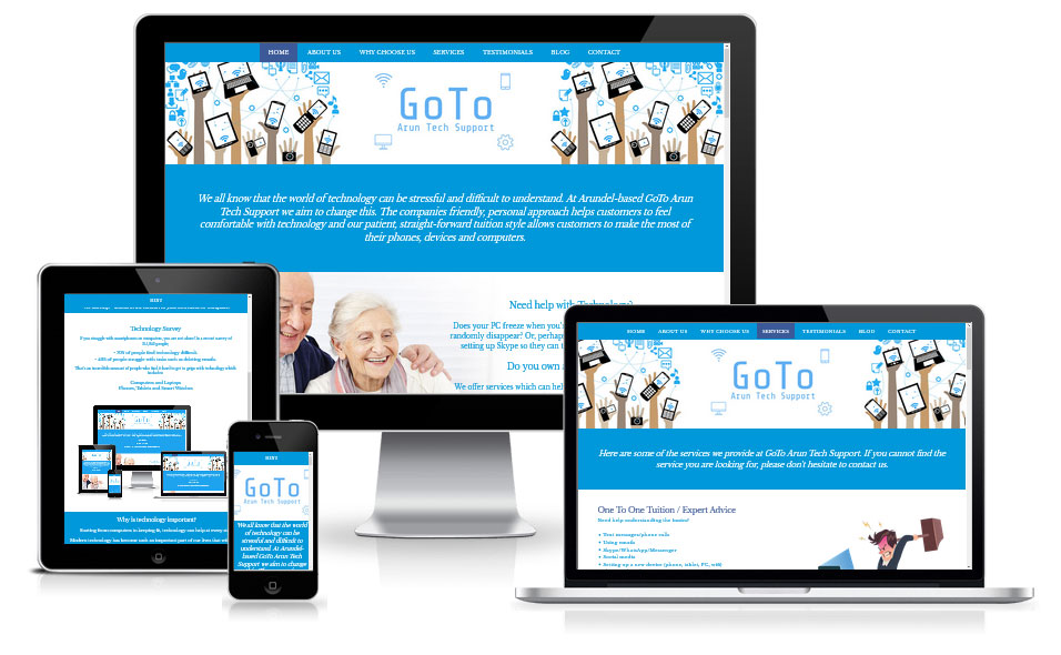 Latest client project by marbles media Sussex based web designers